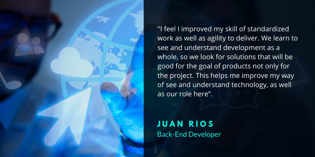 As you saw, Juan works on #Backend #programming here at https://t.co/Sa6XaYKDAO.  He's graduated in #Computerscience and explains why he thinks that work at O.S. Systems helps him improve their work. #skills #agile  #technology https://t.co/msE1BOp56e