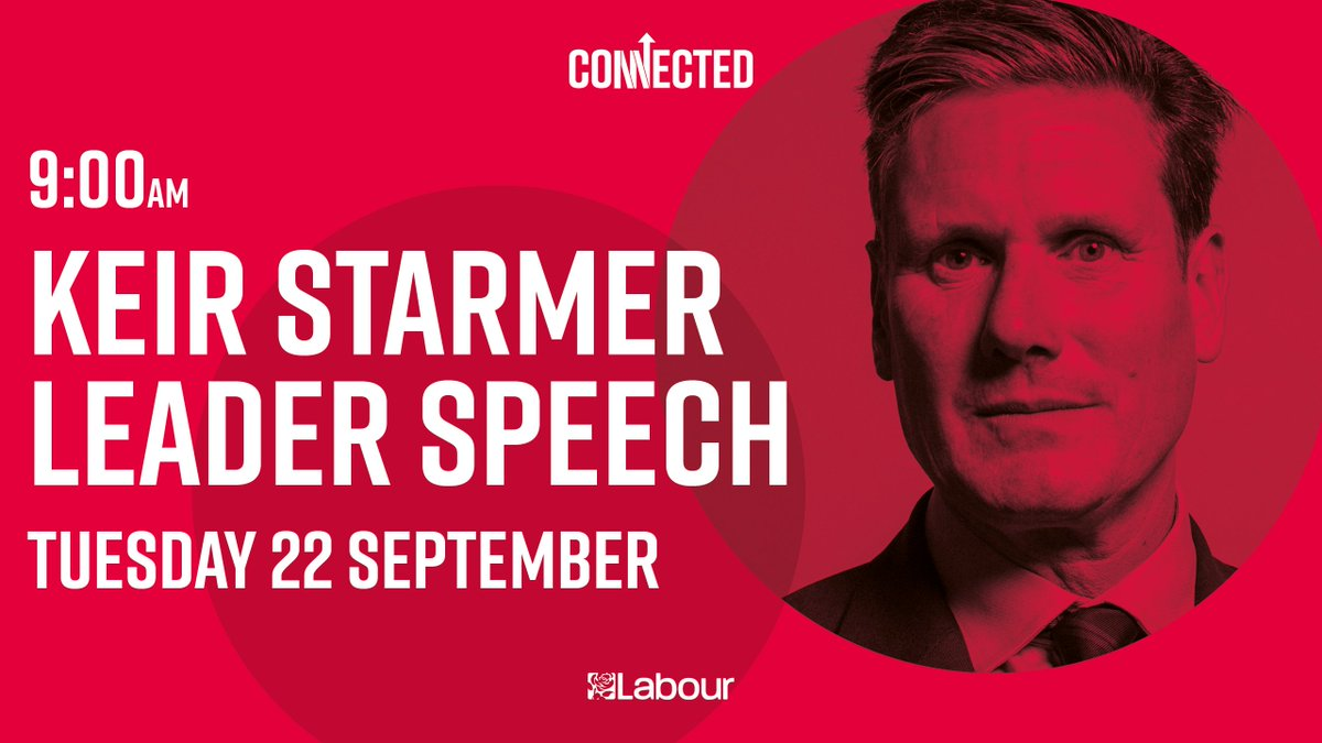 We'll be LIVE on Twitter at 9am for @Keir_Starmer's first keynote speech as Leader of the Labour Party.   Don't miss it. https://t.co/NLr6UjINyA