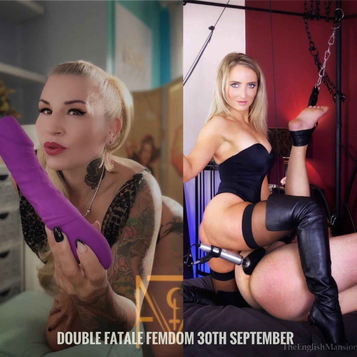 The ultimate #WetWednesday Wednesday 30th September #DoubleDomination sessions with Myself and @MissCourtneyM limited appointment availability so book now https://t.co/SwDi2QyZOw serious applications only https://t.co/OiOlLjaa47