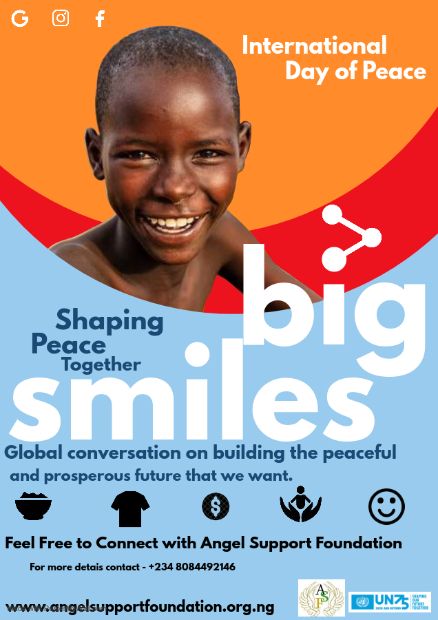 When wars, conflicts and pandemic totally cease in our world, then  peace will  reign. Let's learn to get along,  We must rid ourselves of vanity and embrace peace. Shaping Peace Together is our priority #angelsupportfoundation #UNpeace #UNwomen #WEB #Givinghelp #SDGs16 #SDGs17 https://t.co/8EZVnJS0ca