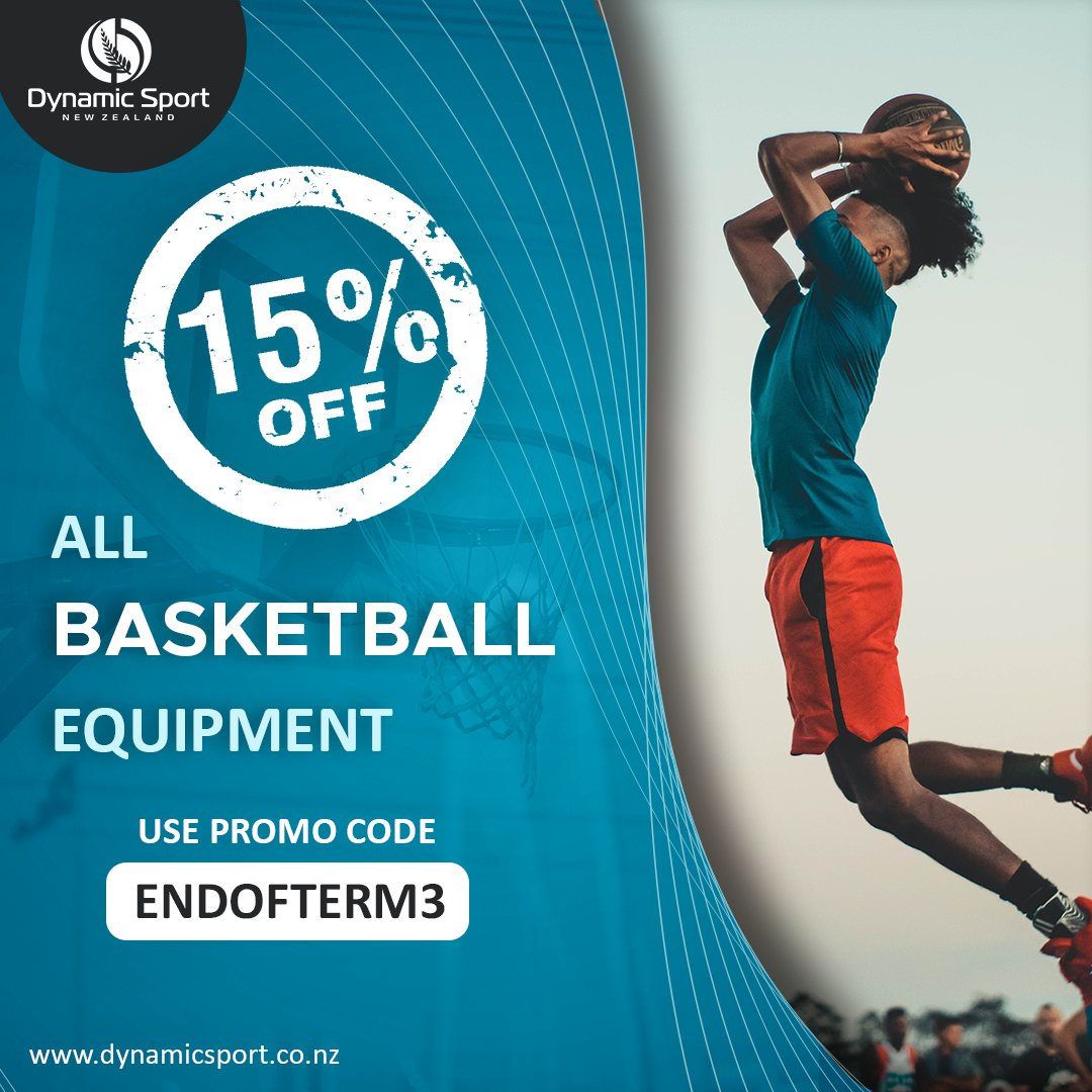 ✅ END OF TERM THREE SALE ✅  We are giving 15% OFF All Basketball Equipment. Enter the promo code at the checkout.  🛒 Promo Code: ENDOFTERM3 ⁣⁣ Shop now ➡➡➡ https://t.co/fn74SO3HI4  #DynamicSportNZ #Basketball #TuesdayPromo #Discount #Promo #SportsGear #GearingKiwisUP https://t.co/Y9YhTGg1ux