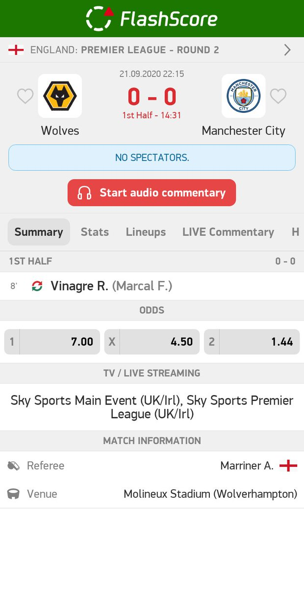 Wolves - Manchester City 0:0  Over 2,5 #goals   #betting #bet #bettingtips #sportsbetting #bettingexpert #football #tipster #gambling #money #soccer #bettingsports #sports #tips #bettingtipster #livebet #InPlay https://t.co/UlyY8D0Hhw