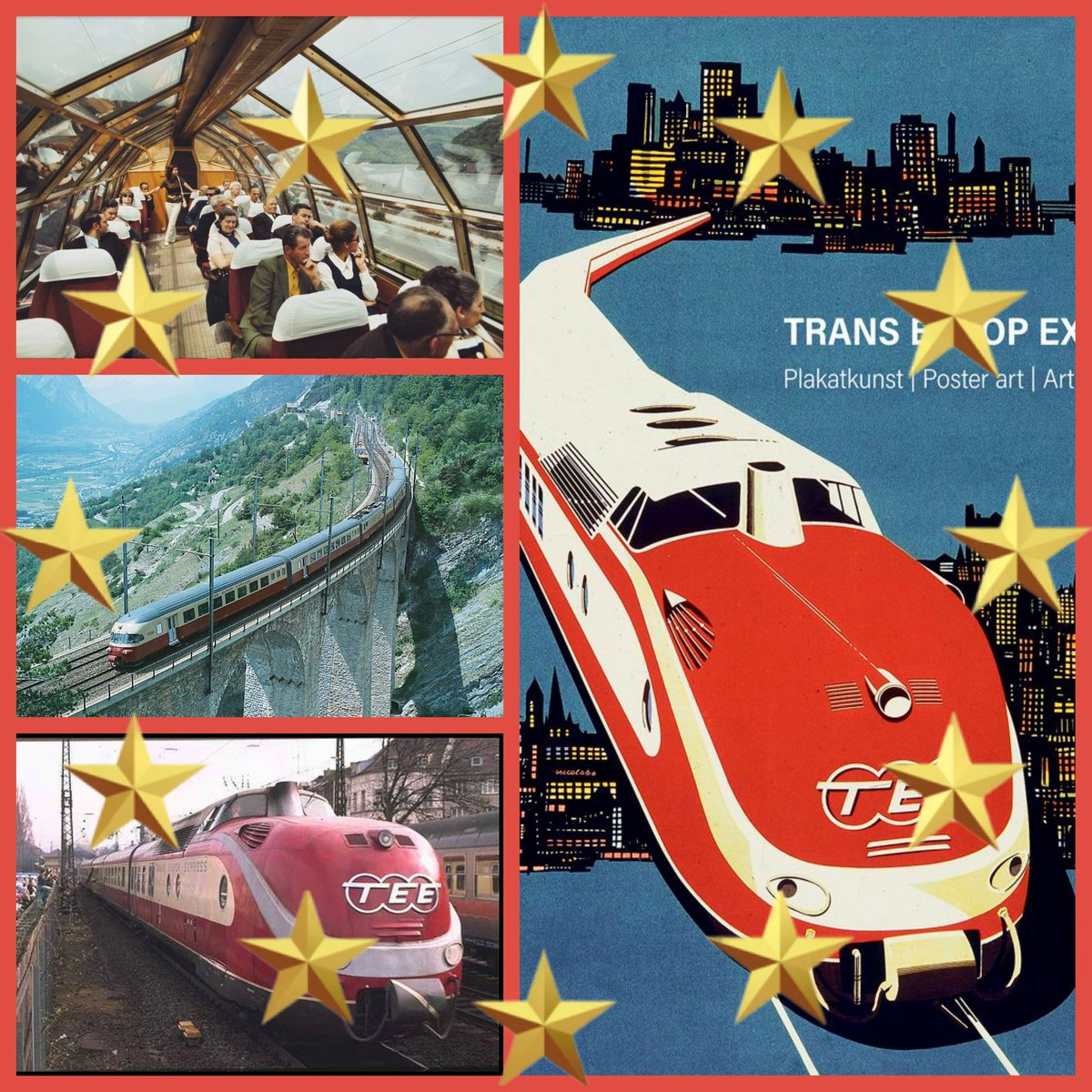 Great news for EU rail fans! 🇪🇺 Plans have been announced to reintroduce new high speed versions of the Trans-Europe-Express. Early routes could be Paris-Warsaw via Brussels, Cologne & Berlin. Amsterdam-Rome via Cologne & Basel. Berlin-Barcelona. Stockholm-Munich. Berlin-Rome ... https://t.co/iWaJ5eZbGu