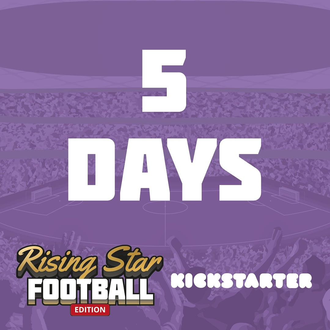 We are 5 days away from our launch on @kickstarter!  Follow us for more updates and click the link in bio to get notified when we launch and find out more about Rising Star Football Edition!  #football #boardgame #soccer #kickstarter #risingstarfootballedition #tabletopgame https://t.co/E6ZBNHeMAz