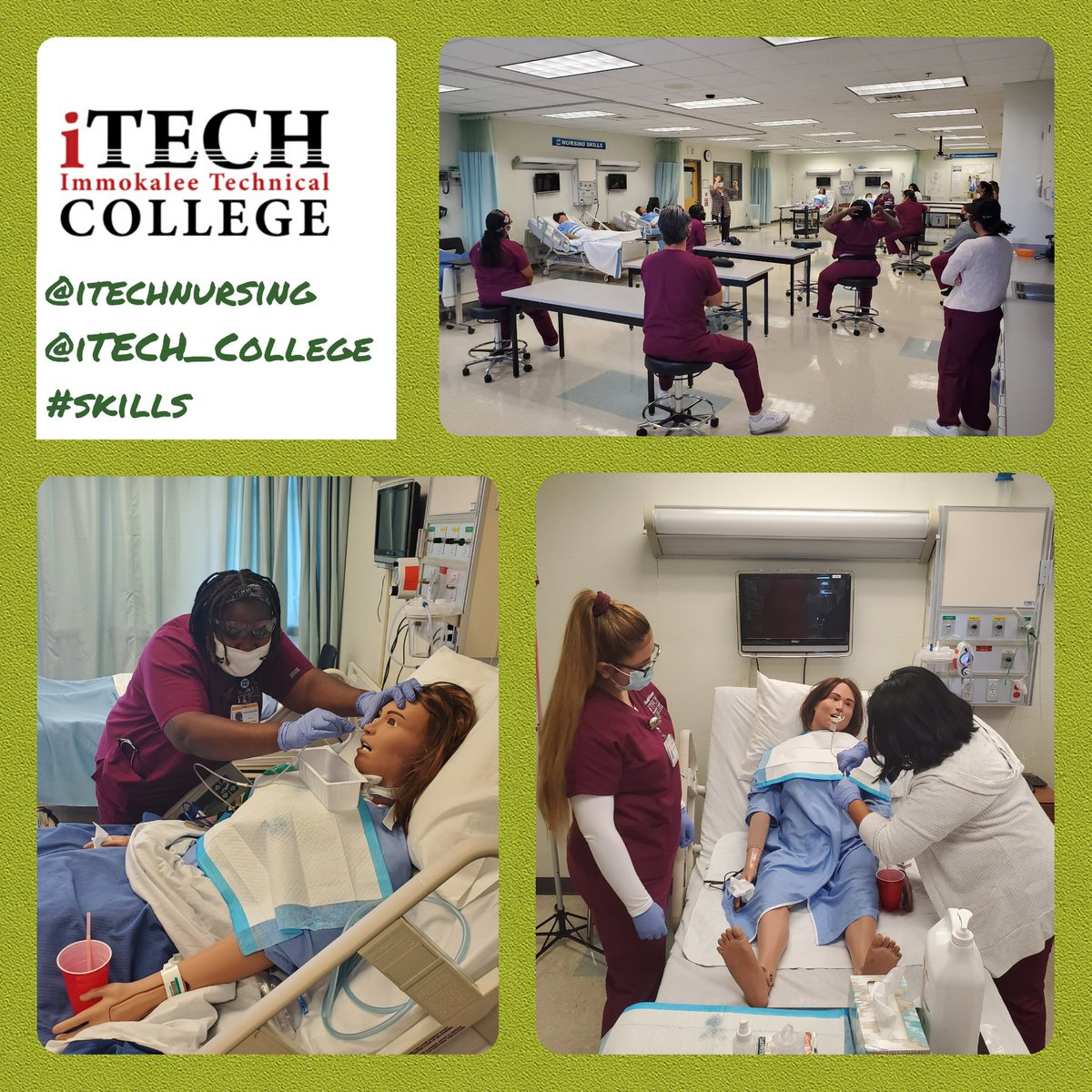 @iTechNursing students practicing nasogastric tube #skills in our realistic nursing labs preparing for the future!   #handsonlearning #technicaleducation #nursing #itechnursing #itechcollege #ccpssuccess #ccpsfamily  @iTECH_College @collierschools https://t.co/OU28yjDIE4