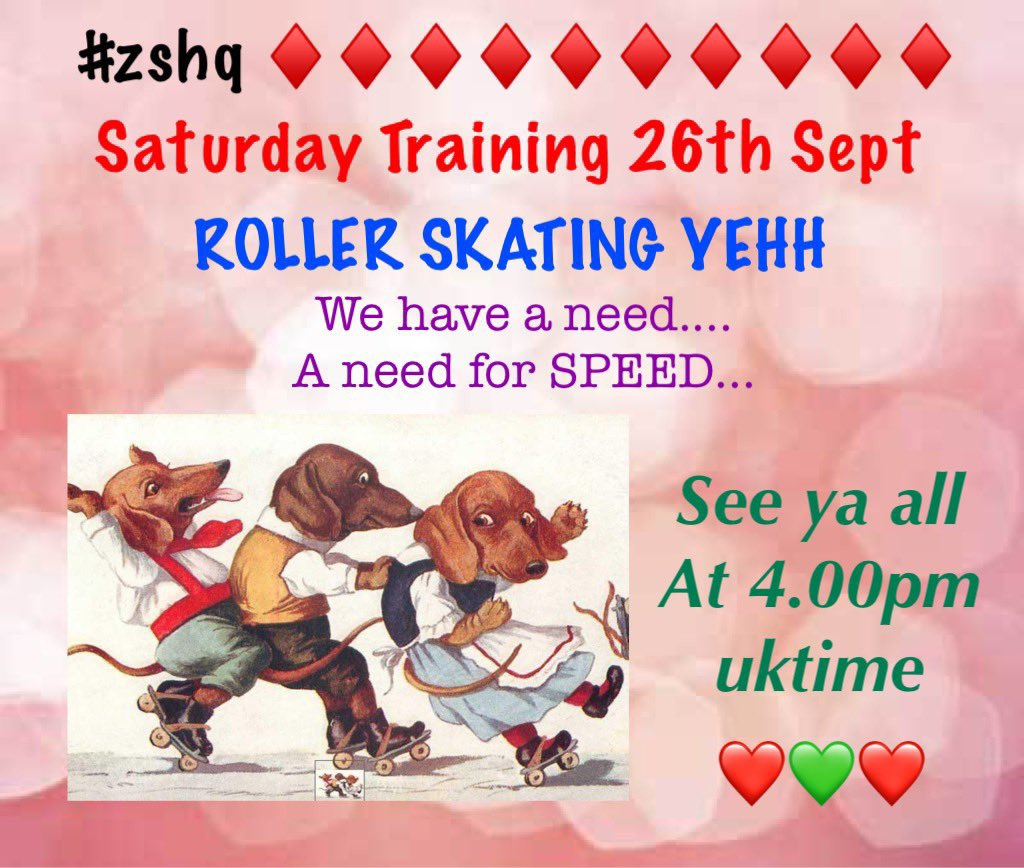 #zshq  ♦️♦️♦️♦️♦️♦️♦️♦️♦️♦️♦️♦️♦️♦️♦️♦️♦️♦️♦️ We have had a fabby PIRATE WEEK...  BUT........ We gotta now get on wiv gaining STRENFF AND STAMINA  but in a fun way 🤣😃😂😀🤣   So lets go ROLLER SKATING.........YEHHHHH https://t.co/ORmBmMLD3V
