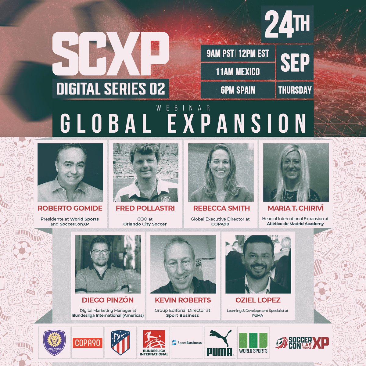 SoccerConXP Digital Series 2: GLOBAL EXPANSION 👉Register now and join us at https://t.co/rE6OIuQYv2 --- #AllOnOne #SCXP #soccer #futbol #futebol #event #lasvegas https://t.co/rSEsBBH9dr
