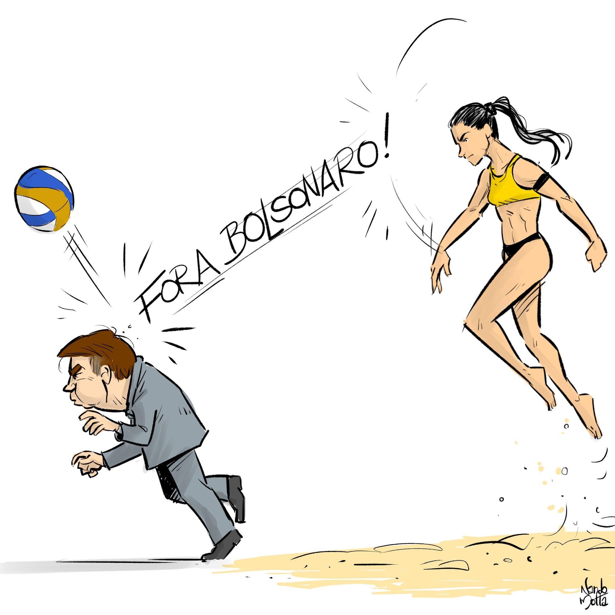 "Marcelo Freixo on Twitter: ""FORA BOLSONARO! Todo apoio à Carol Solberg!  Arte: @desenhosdonando… """