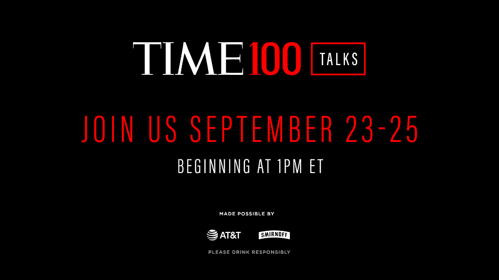 Join us for a series of live #TIME100Talks from Sept. 23 to 25 as we convene extraordinary leaders from the 2020 TIME100 list to speak about their work, their impact, and their visions for the future.   Register now: https://t.co/SQ6wVzmUCO https://t.co/0gjboJXhmI
