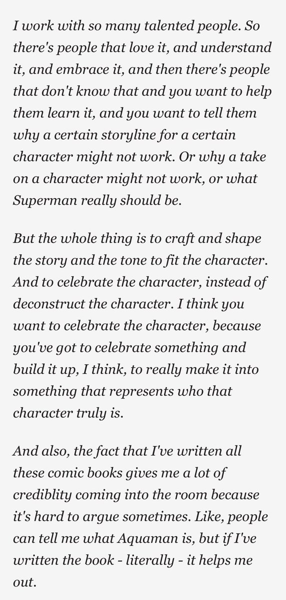 @GeoffThorne @pasloren @rodolforever @PosterPosse @batmanonlinecom @BatmanUniverse @RealKevinConroy @BatFansPodcast @tomstoyz @BatmanAnimated @MoorArtGallery And in regards to Johns again, this should tell you enough about his mindset. A gatekeeper who speaks for itself. The fact that all this negativity from Ray Fisher and Momoa are directed towards Johns speaks volumes. https://t.co/zac57FC4ch