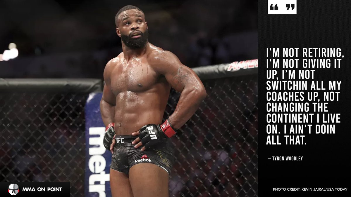 Tyron Woodley says it's not over just yet. 👀   Source, Tyron Woodley on Instagram: https://t.co/gVbfBKB0V7 https://t.co/SNqLgTYche