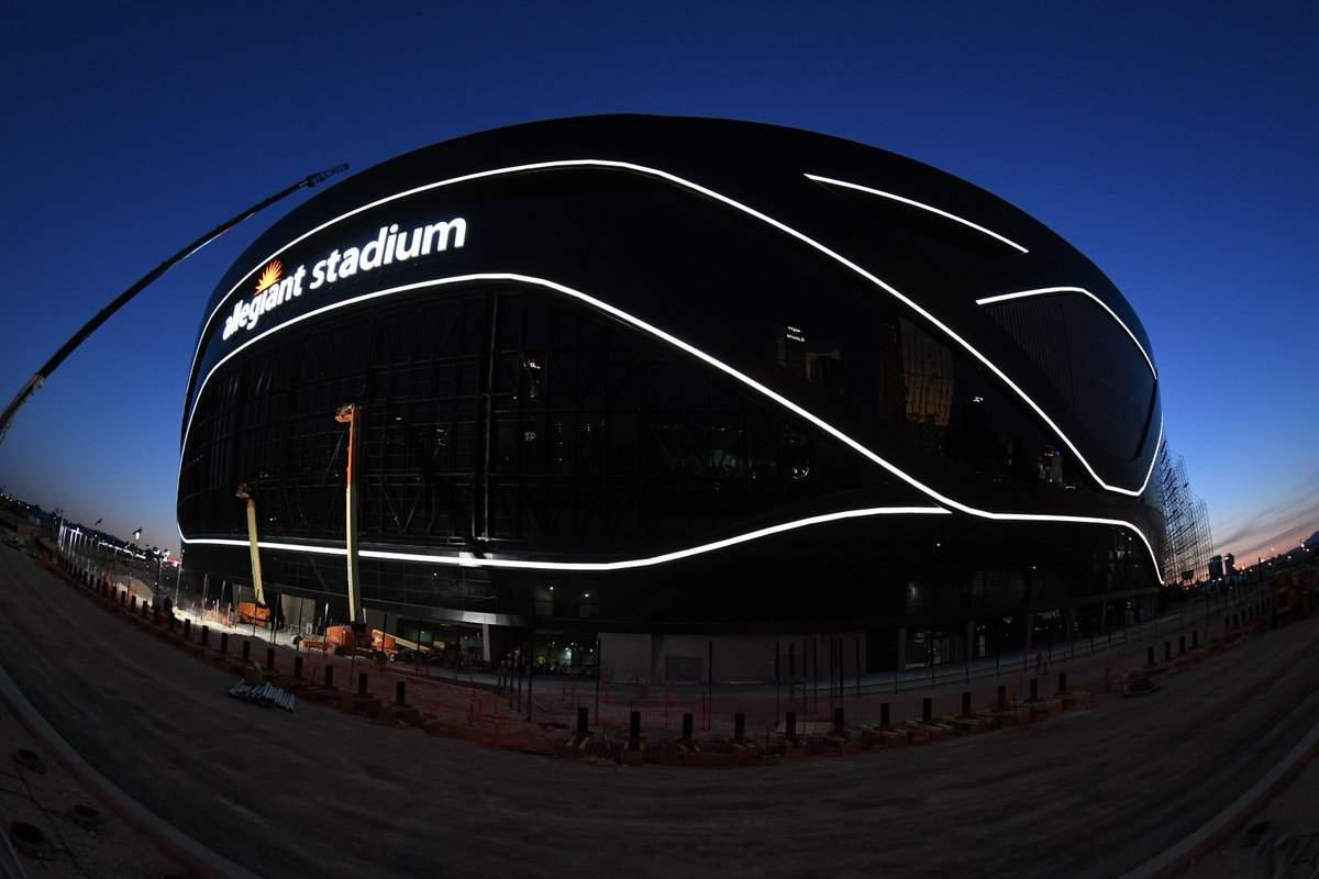 """Tonight's #MNF matchup will be the first game in the #Raiders' new @AllegiantStadm, and will also mark the 50th anniversary to the day of the very first """"Monday Night Football"""" broadcast, per @Life_OnTheCouch of the @reviewjournal.  🔔: https://t.co/WHPwOMPg9X https://t.co/VlGcHFgMdr"""