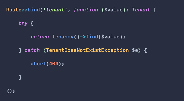 You can explicitly bind objects to routes. You don't have to use route model binding only. Custom objects work perfectly well too