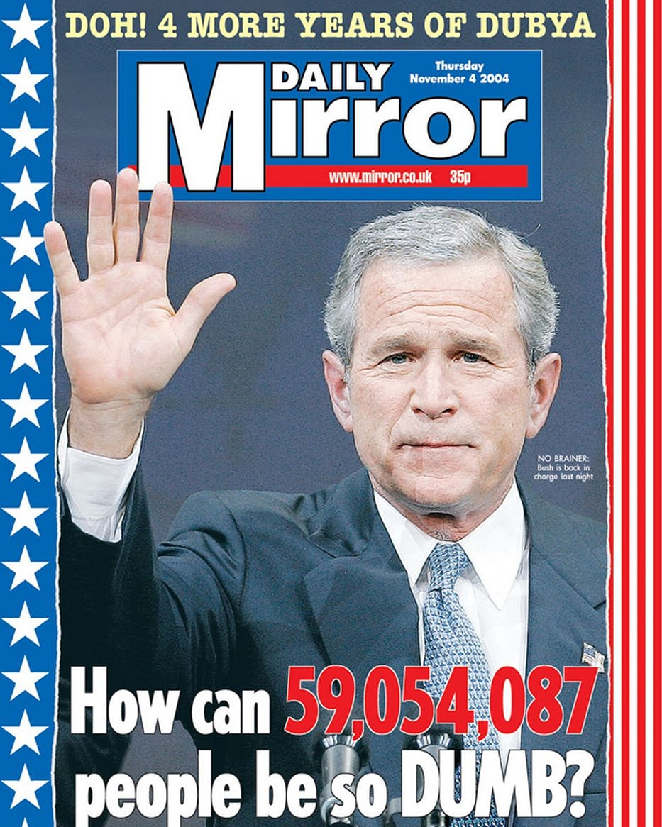 Remember this front page from 2004? I wonder that it's gonna say in November... #vote #dailymirror https://t.co/vivsk79A1N