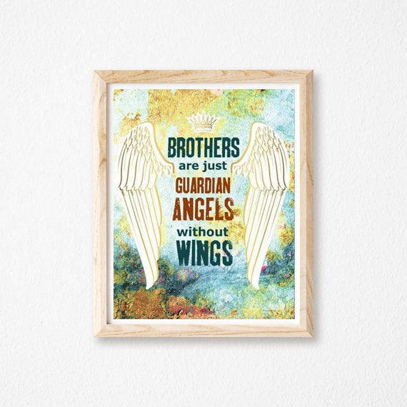 Brothers Are Just Guardian Without Wings Christian Wall Art And Gift https://t.co/QXLk1naE2f #truebluedesignco #Etsy #GiftForBrothers https://t.co/MFUNhwolX7