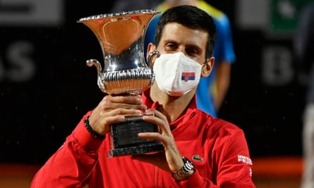 World no.1 novak djokovic has defeated Diego schwartzman in straight sets to lift his 36th masters 1000s title at #ATPRome .  After winning his 5th #RomeMasters1000 , #Djokovic became the highest masters 1000s winner by crossing #Nadal who is at 35 . https://t.co/8q4nOACnZ7