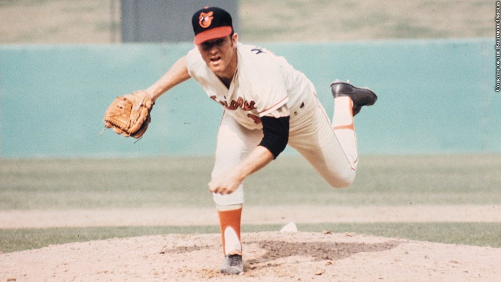 "Dave McNally won his 20th game #OTD 1971; the 4th straight yr reaching that mark for @Orioles. However, he might be best known in some circles for the role he played in ending the ""reserve clause"" in baseball contracts. Read more @sabr https://t.co/HqbYPfNiKN https://t.co/ZfZ34PTGId"