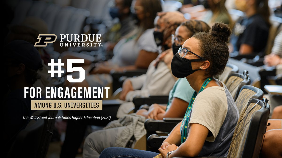 Since #Purdue was founded, engagement has been at the core of its mission. In our persistent pursuit of #TheNextGiantLeap, we keep finding ways to deliver transformative education. This thinking is how Purdue earned the #5 ranking for engagement ➡️ @WSJ. https://t.co/O49K8STa8v https://t.co/9qx0tRvzbl