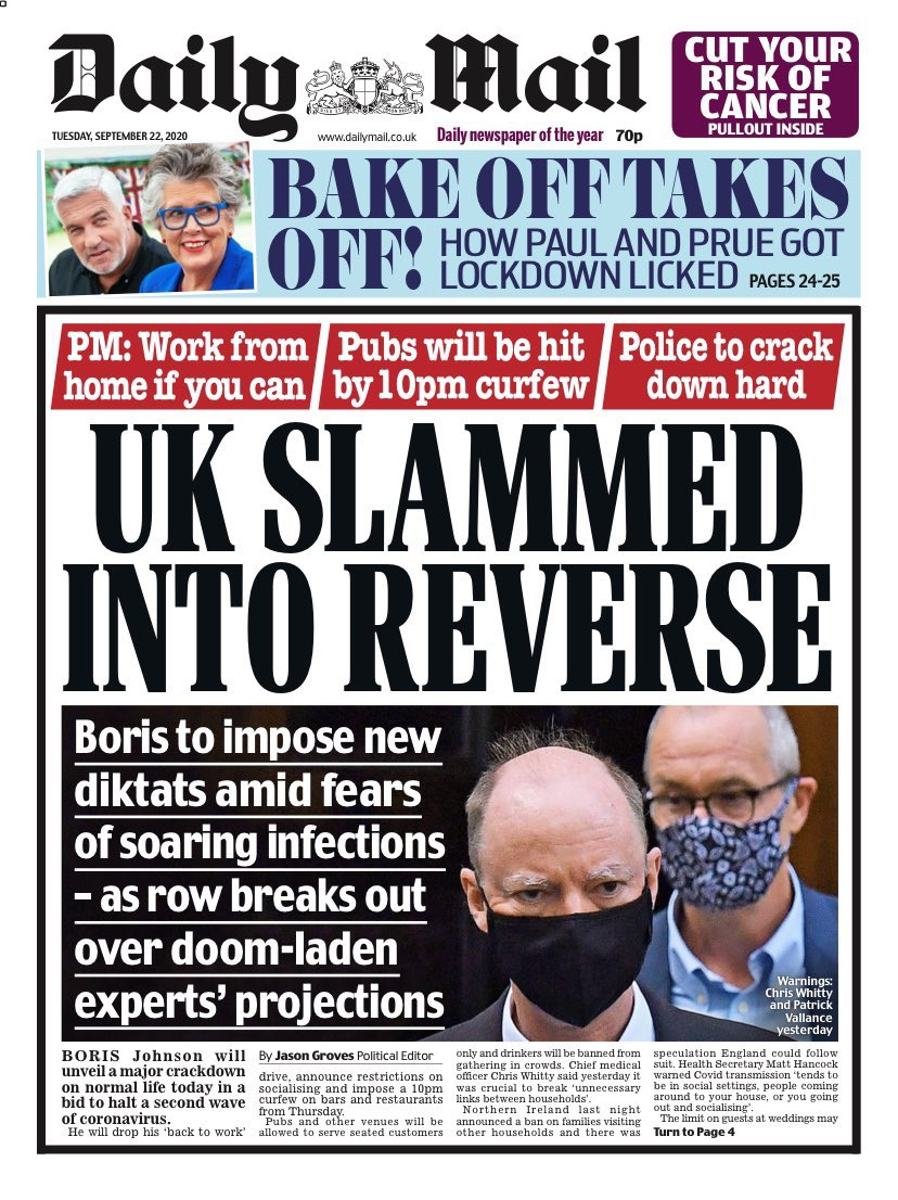 On the video above both Chris Witty and Patrick Vallance state that face masks are ineffective.. Especially outdoors..  Who's advising the advisers differently..?  #skypapers #coronavirus #CoronavirusBriefing #Covid_19 https://t.co/gzDWHoxnT0