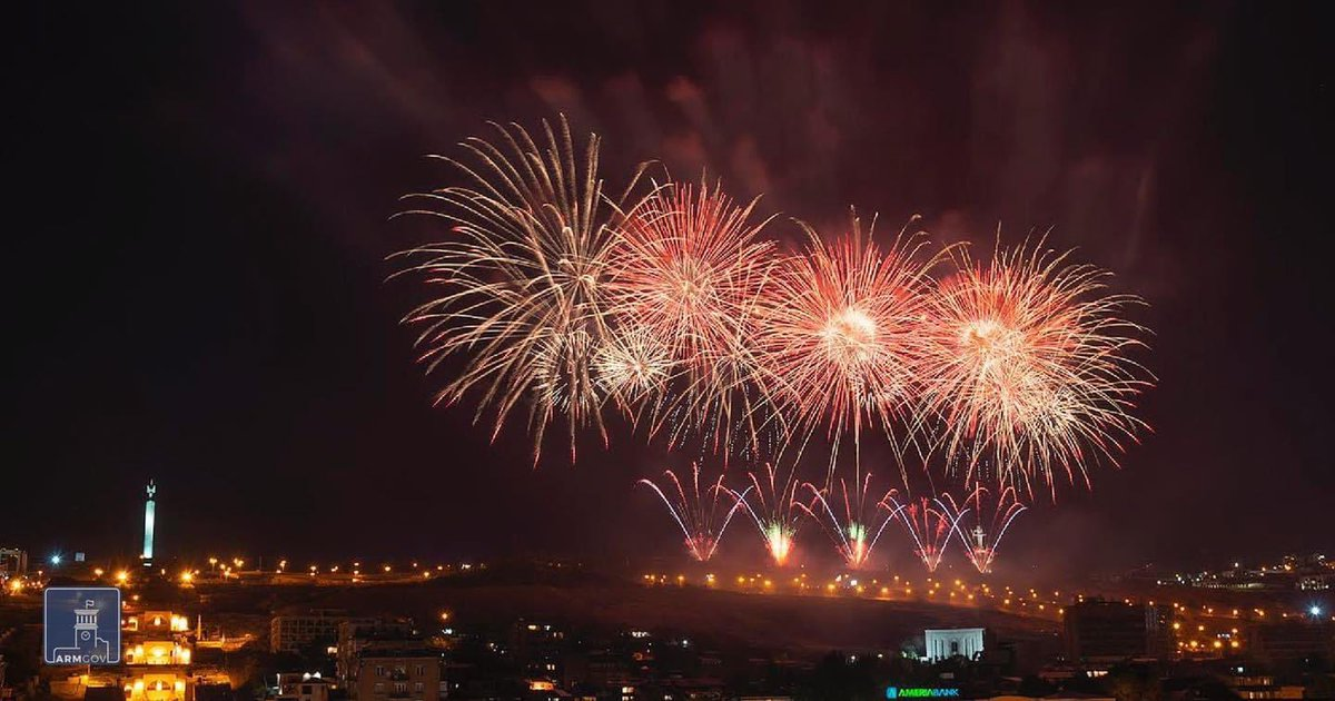 Thank each & every one of you for all the congratulatory messages & heartfelt wishes on the #IndependenceDay of our beautiful #Homeland. We read every single one! ❤️  Now, let's enjoy today's awesome fireworks in #Yerevan! 🎆🇦🇲 #Independence29 https://t.co/UPpLUTqjl5