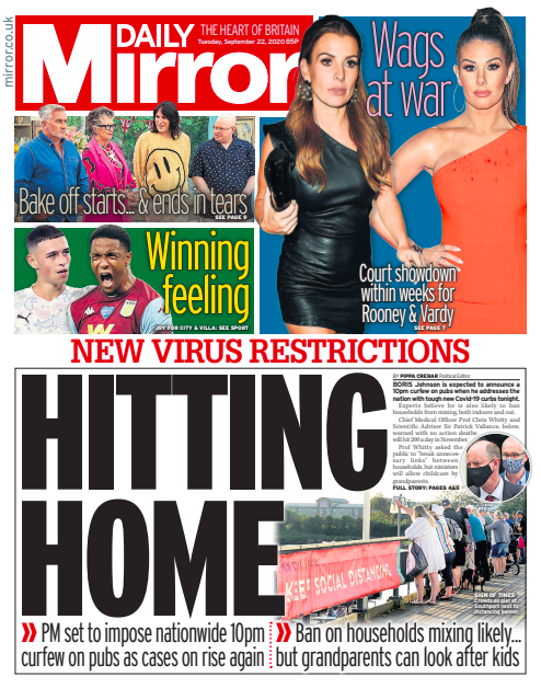 Tuesday's Mirror: Hitting home #TomorrowsPapersToday #DailyMirror #Mirror https://t.co/3FsYKSftUp