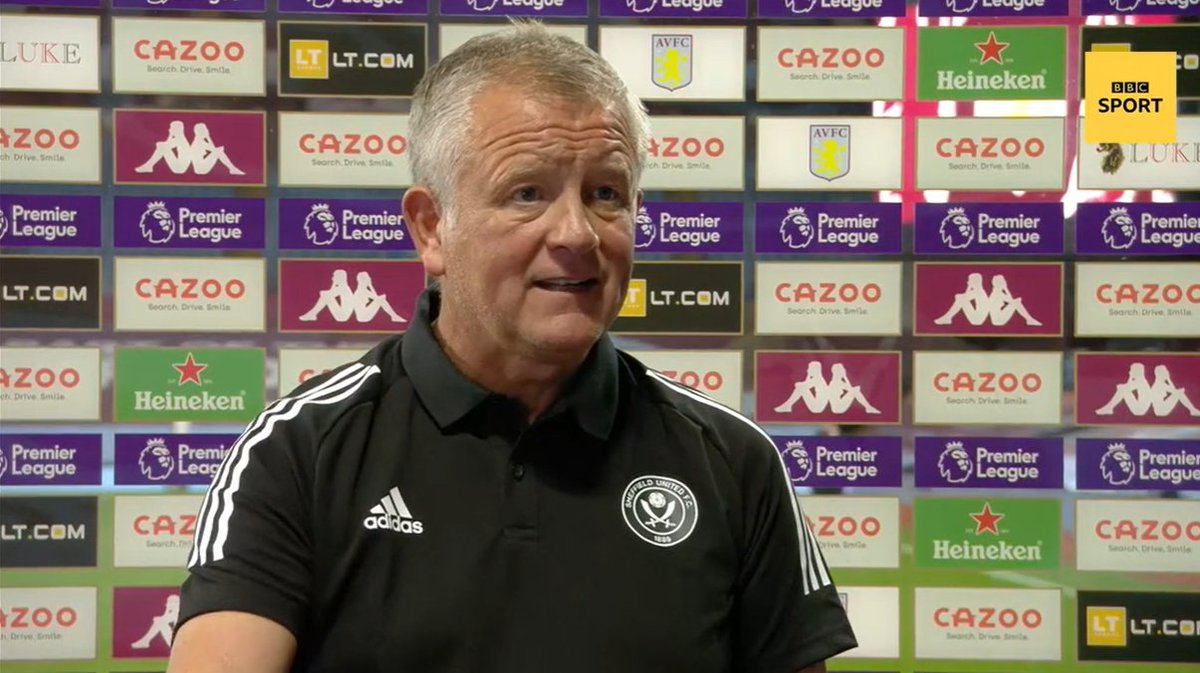 Chris Wilder had plenty to say about the officials after Aston Villa beat Sheffield United. Watch: bbc.in/3iS6UER