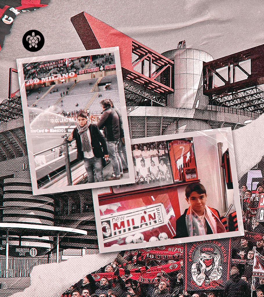 From the stands to the pitch. San Siro 🔴⚫️ @acmilan https://t.co/EzgvuBnrGQ