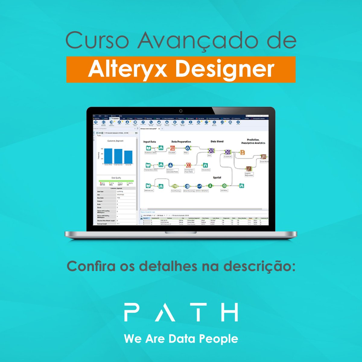 Este curso foi desenvolvido para usuários intermediários do @Alteryx.   Confira nossa página de treinamentos Alteryx Designer: https://t.co/n9TRsoXGYD  #alteryx #TogetherWeSolve #AlteryxAnalytics #JuntosSolucionamos #path #pathdatafan #pathalteryx https://t.co/xk7GYtQPc7