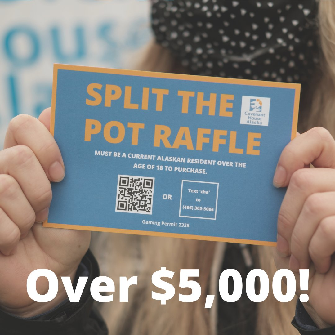 Our 50/50 raffle has reached over $5,000, and we still have four weeks to go! Purchase your tickets today: https://t.co/8HlAN6aoAp  #raffle #alaska #5050 #nonprofit #fundraising #splitthepot https://t.co/Ji1FKiNmNF