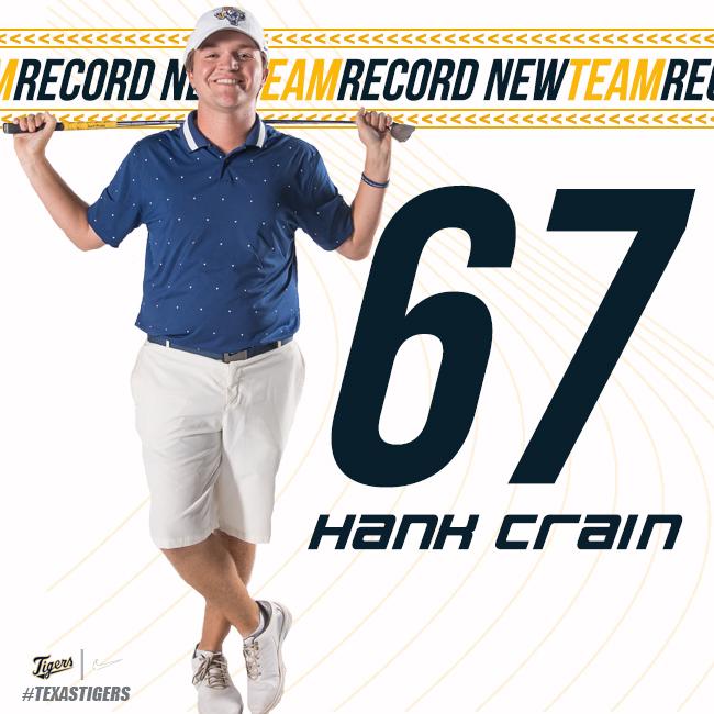 👀↔️6⃣7⃣=NEW RECORD 🗣️@hank_crain  ⛳️The Hideout Golf Club  🚩Brownwood, TX  . . .  set a new team record w/a 67 at the @ASC_sports Fall Preview   #TigersUnite | #TexasTigers🐅| #ETBU🐯 https://t.co/beeLCaiFro