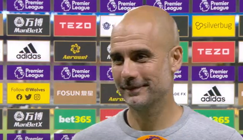 Heres what Pep Guardiola made of Man Citys win over Wolves. Watch 📽 bbc.in/2ZWF0QE