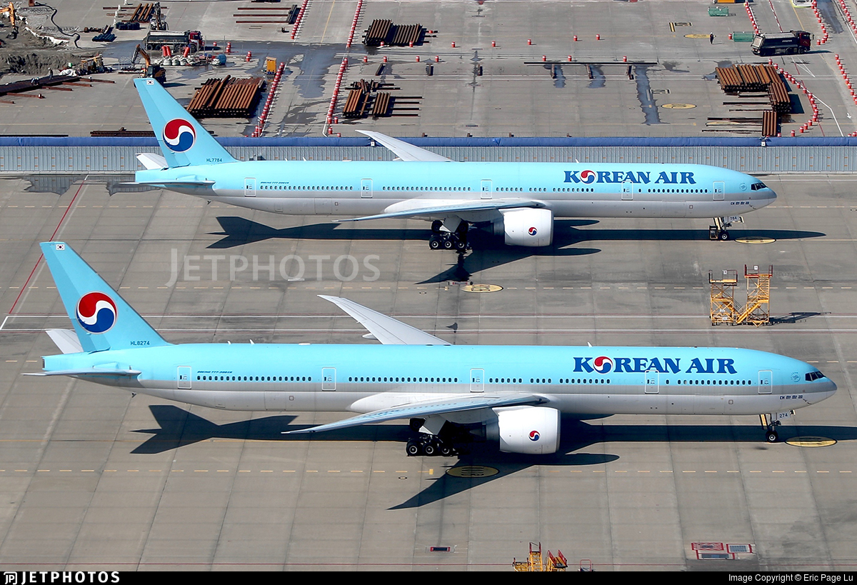 Two Korean Air 777s in Seoul. https://t.co/IOhr9N6jFr © Eric Page Lu https://t.co/A2Z4IljDk5