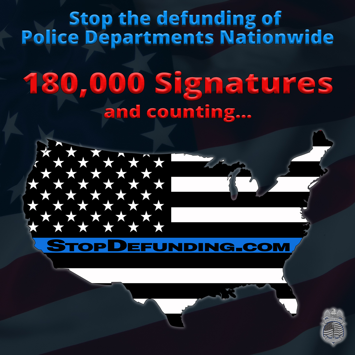 180,000 Signatures and Counting! Please sign and share our nationwide petition to support law enforcement and protect public safety.  https://t.co/n1DBaKqz4P https://t.co/2OVGGxirF2