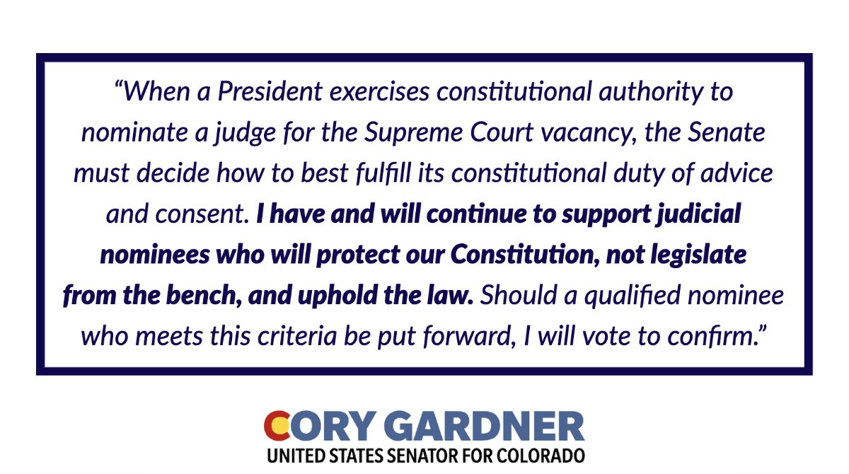 Read my full statement on the Supreme Court vacancy ⬇️ https://t.co/n2YNP8O0Bz