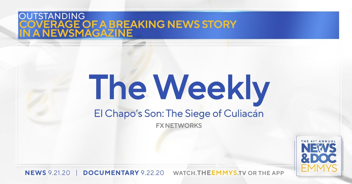 The #NewsEmmy Award in Coverage of a Breaking News Story in a Newsmagazine goes to... The Weekly │ @TheWeekly @FXNetworks https://t.co/GH6M072Aiz