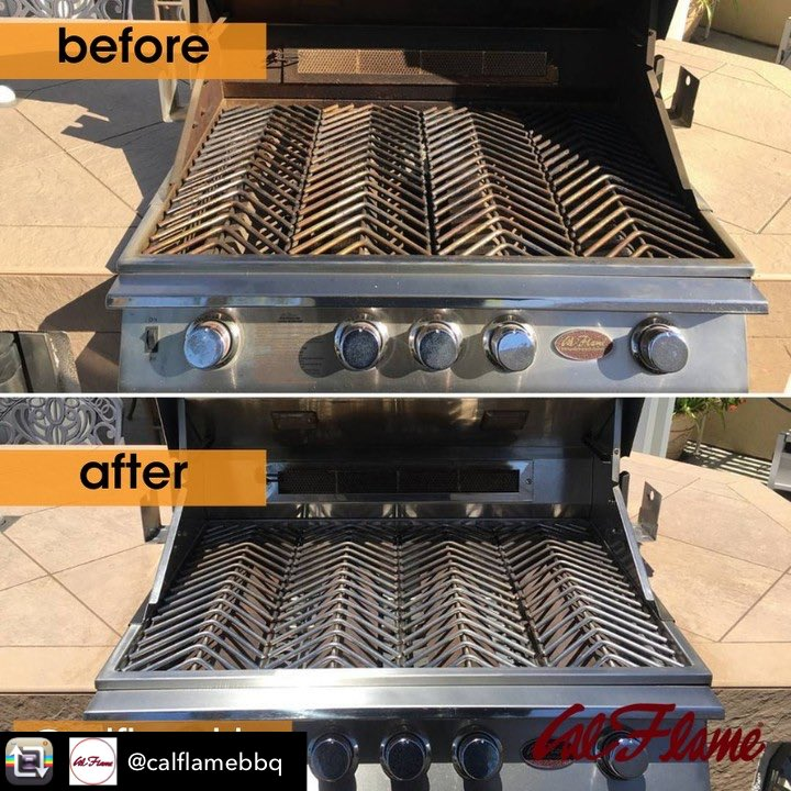 Maintenance Tip Monday!!  Repost from @calflamebbq  😱 Look at this transformation by @bar_b_clean_tv who brought our Cal Flame 🔥 grill back to life! ♨️  #grilltrends #grilltricks #bbq #grilling #barbecue #grillmaster #girltransformation #cleangrill https://t.co/dEY7ksxF4K