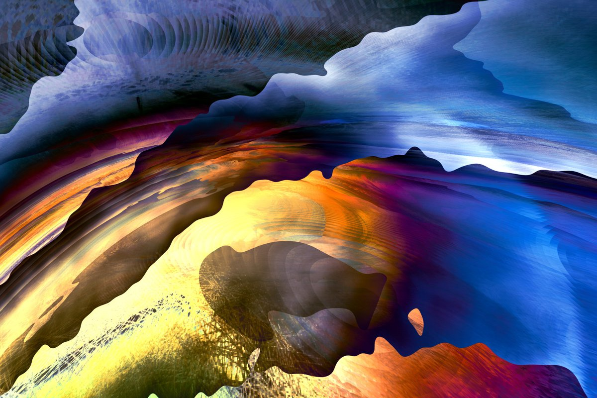 Sundown Canyon #digitalart #surreal #cryptoart https://t.co/W2mAJVsvfM