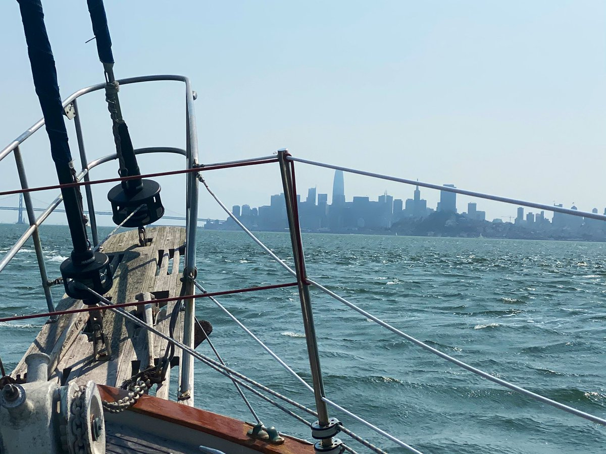 Sunny day with lotsa breeze-perfect for #sailing Saw a few #Dolphins too :) Just hire boats off @PIER39 for 90min sails for your grp. Very safe & fun outing #SanFrancisco #BayArea #California #cruising #boating #BoatParty #travel #traveltribe #SupportLocalBusinesses @VisitCA https://t.co/3anNBQiCJQ