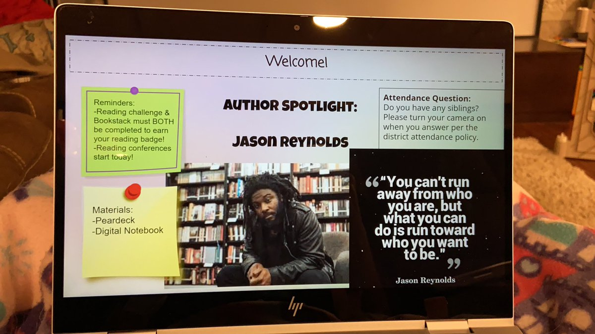Including an author spotlight in my entry slides and of course I had to start with @JasonReynolds83!