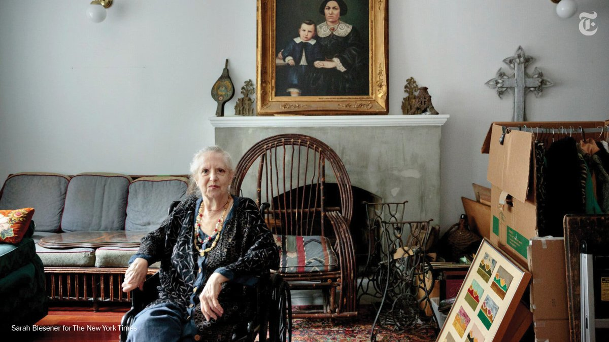 The artists who drew her to SoHo in her youth have all but disappeared. Now she finds the neighborhood generic, missing things she likes.Take a tour of one of the last SoHo artist lofts: Linda Sampson's home was bought for $15,000, sold for $2.4 million. https://t.co/FO3GD9Pvg6 https://t.co/rfAiVDWcFg
