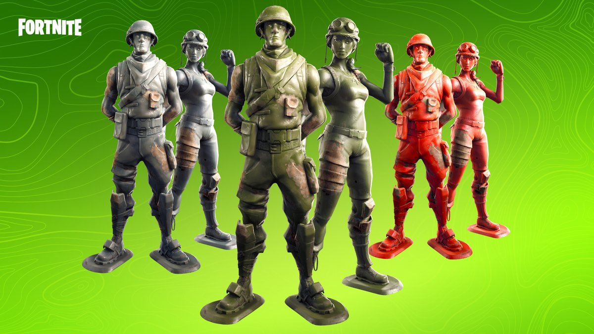 Molded by fire and hardened for victory. Grab the Toy Soldier Set in the Item Shop now!