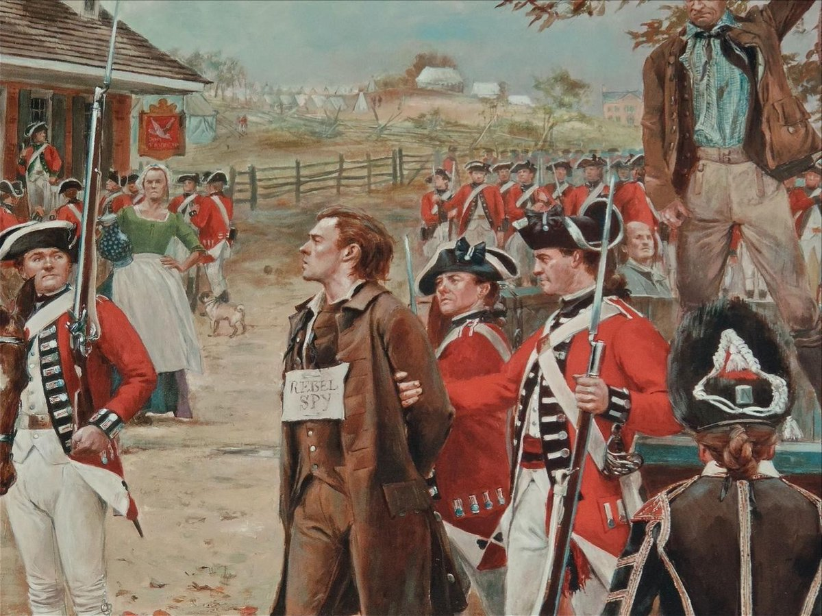 "22 Sept 1776: American #hero Nathan #Hale is hanged by British for #spying during the American Revolution. He is probably most famous for his quote: ""I only regret that I have but one life to lose for my country."" #patriot #history #RIP #ad https://t.co/qqd83ObN9j https://t.co/5ANoxuVoUO"