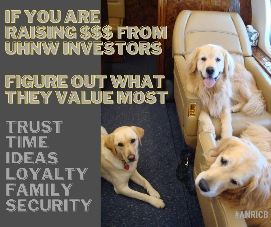 If you are building relationships and raising capital from #HNW Investors - I suggest really focusing on what they value the most, is it trust, time, fresh ideas, loyalty, security, family ?  what do you think it is ? #anricb #hedgefunds #financialadvisors https://t.co/wLDMVRzeK6