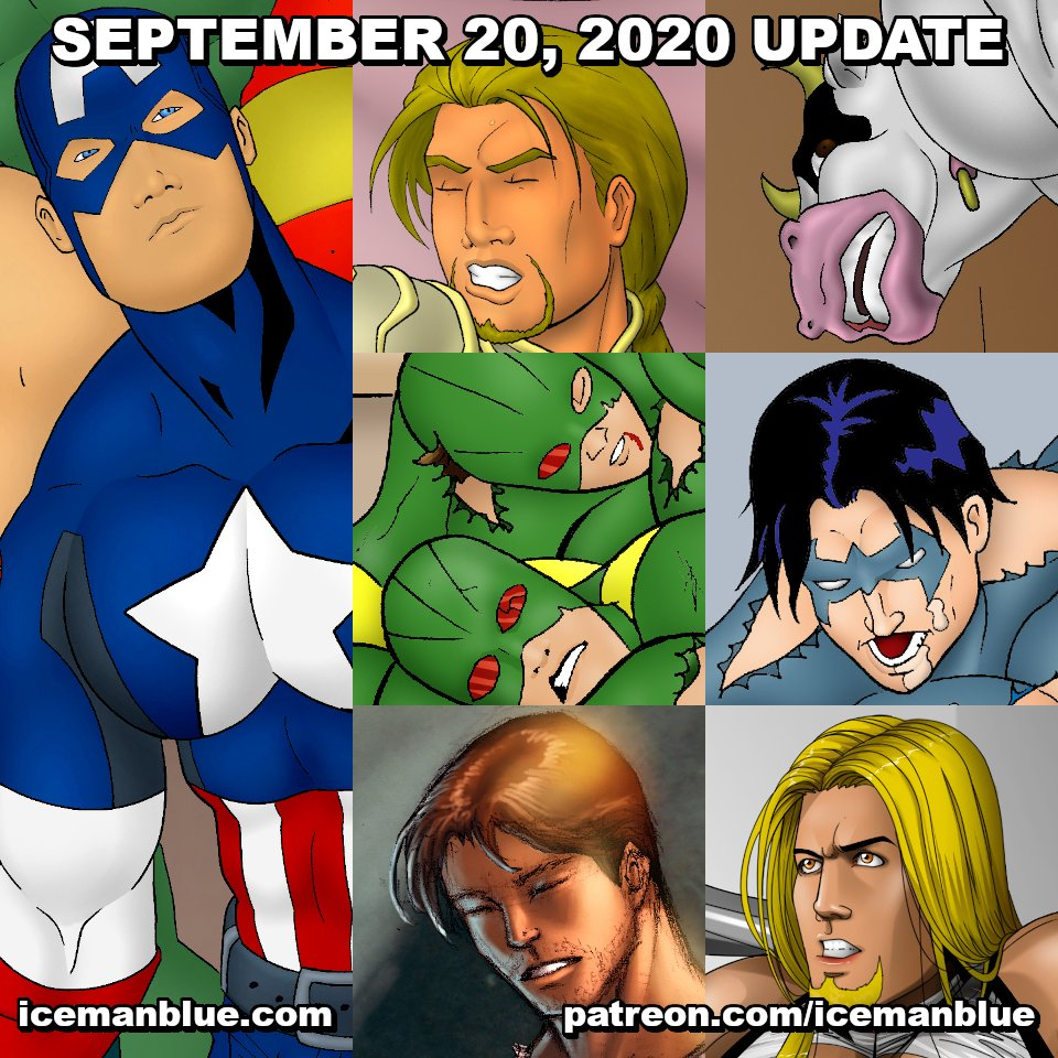 My September 20, 2020 update of 4 pages, 4 classic pin-ups, 2 guest artist pin-ups is available in FULL & UNCENSORED for https://t.co/L4oAiOPfnW & https://t.co/ozA19EjVIG subscribers! Join today! #icemanblue #bara #gayart #gayartist #gaycomics #gaymuscle #yaoi https://t.co/xjsxhbdeTa