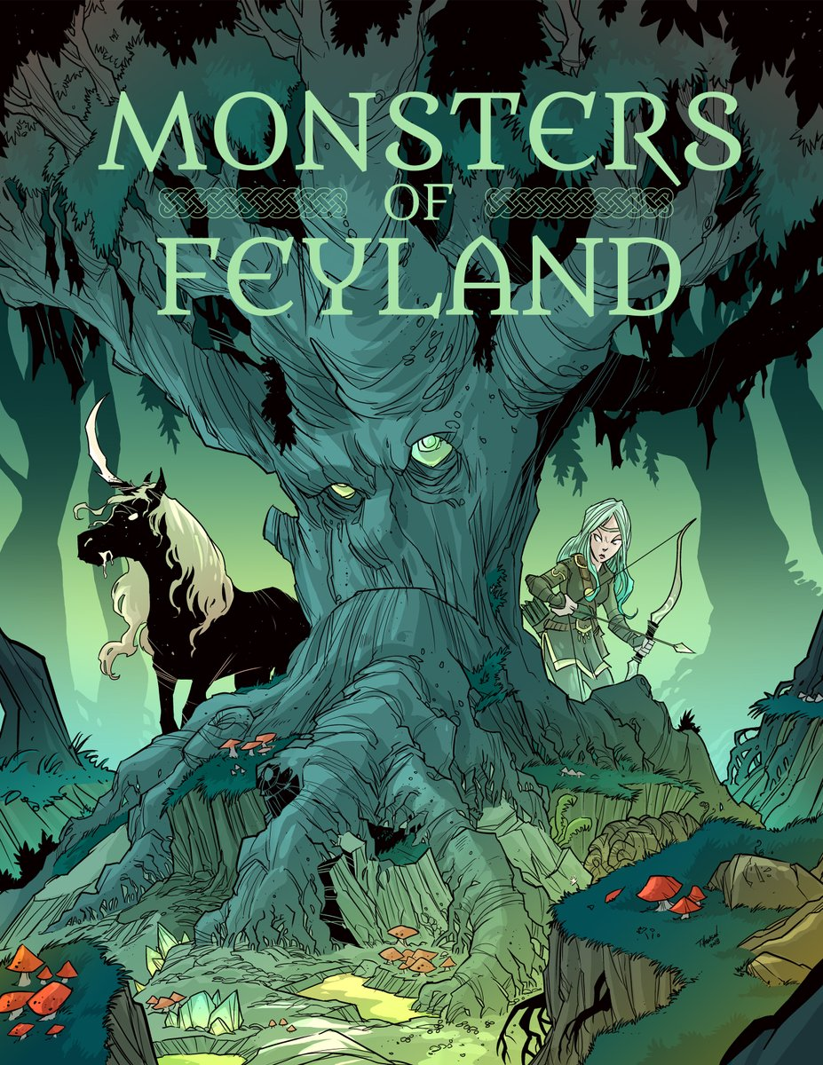 #dnd It's Monster Monday! Here's the Mountain Lord from our Monsters of Feyland. This CE creature is attempting to overthrow the Seelie and UnSeelie courts with his giant following.  Feyland PDF: https://t.co/klq1fNo9QD Hardcover/Softcover: https://t.co/s6AN6QPARV https://t.co/SeXiRqVIMK