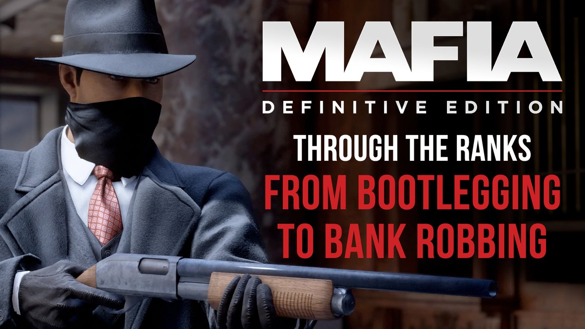 The Mafia, where clocking in for the day means bootlegging and bank robbing.  Organized Crime drama faithfully remade in the new Mafia: Definitive Edition: https://t.co/aZX4ORYxOf https://t.co/CHWxQIbYdd