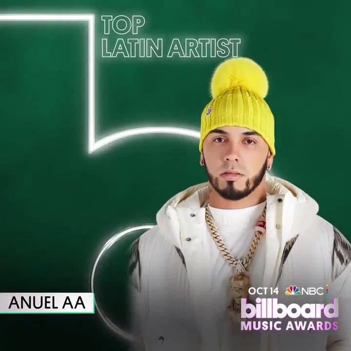 #BBMAs Top Latin Artist: 🟣 @Anuel_2bleA 🟣 @sanbenito 🟣 @JBALVIN 🟣 @ozuna 🟣 @RomeoSantosPage