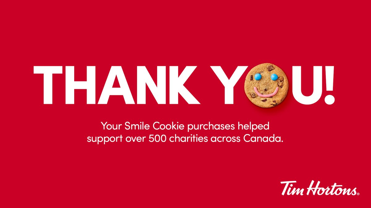 Txs to everyone who shared #SmileCookies. Txs to the owners of @TimHortons #Oakville #Milton #hornby for making our communities better with Smiles & funds that will feed > 750 children in #Halton!  #weekendswithouthunger #foragoodcause @TimHortonsOakville https://t.co/dWsRb992Id
