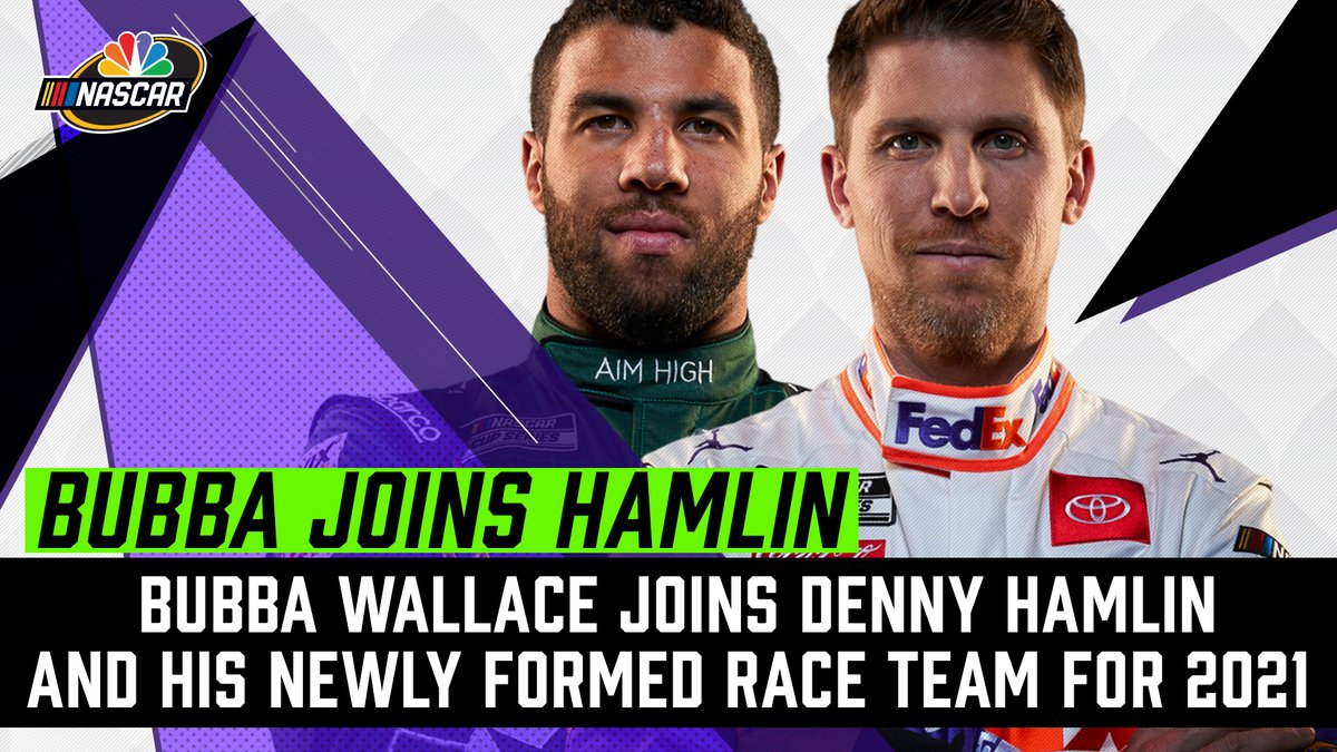 IT'S OFFICIAL: @dennyhamlin announces he's forming a single-car team with @Jumpman23 Michael Jordan.  His driver? @BubbaWallace. #NASCAR https://t.co/WzCN8PaJAK