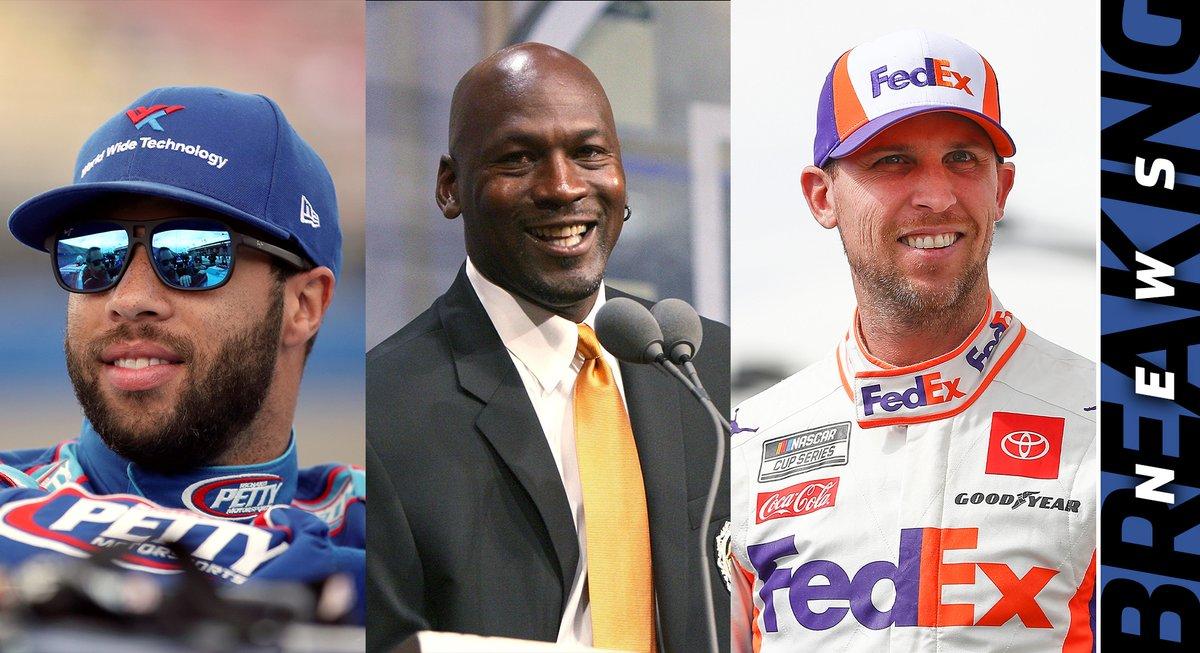 BREAKING NEWS: Michael Jordan, @dennyhamlin announce new NASCAR Cup Series team in 2021, featuring @BubbaWallace as their driver.  Details: https://t.co/EwR56T9Xez https://t.co/A4rvWXdGZ2